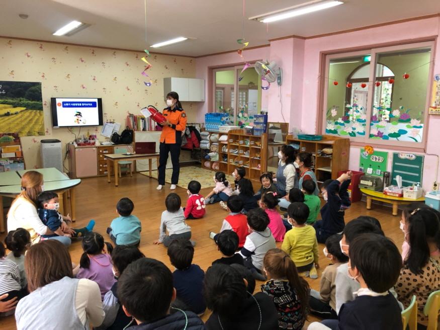 [크기변환](1119)논산소방서, 어린이집 맞춤형 소방안전교육 큰 호응!.jpg